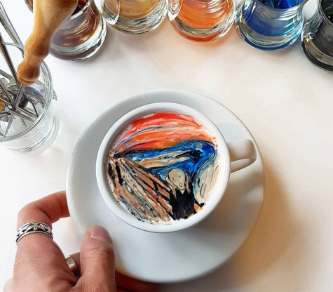 Lee Kang-Bin Coffee Art 1